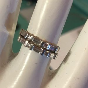 CZ bands. Baguette and round alternating.